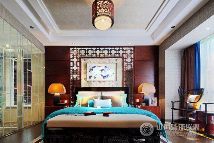 中式古典装修效果图 绝美背景墙设计整套大图展示_三