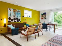 缤纷多彩的复式公寓 营造温暖有活力的家