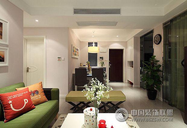 89平米清新小三房 宜家与现代风格混搭 客厅装修图片
