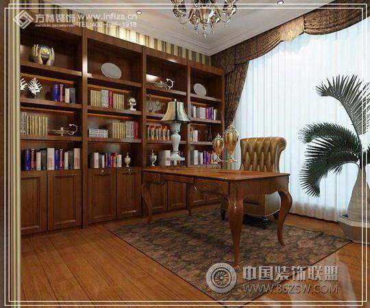 平长堤湾——古典欧式的异国风情古典书房装修图片图片