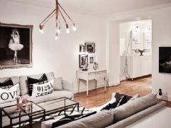 柔和時尚的瑞典公寓 典雅温馨的空间