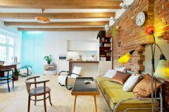 乡村风单身男子公寓 别出心裁的砖墙设计