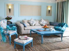 地中海风格清新小家 蓝色装扮迎接清凉夏日