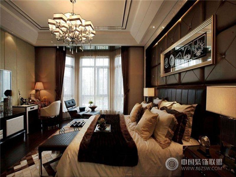 半山爱马仕后现代风格别墅现代卧室装修图片