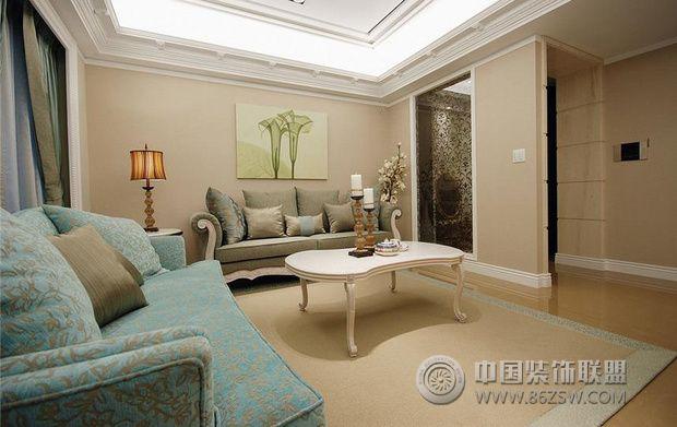浪漫唯美婚房 展现优雅华贵的艺术风情客厅装修图片