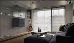 100平米混搭风格设计 简约灰色调住宅