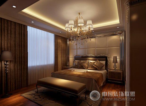 奢华大气欧式风住宅 凸显高贵典雅气质-卧室装修图片图片
