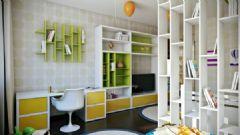 简洁的公寓布置 五彩色调增加梦幻元素简约书房装修图片