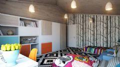 简洁的公寓布置 五彩色调增加梦幻元素