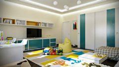 简洁的公寓布置 五彩色调增加梦幻元素简约客厅装修图片