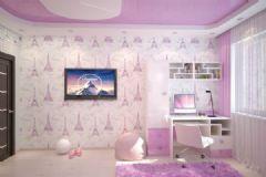 简洁的公寓布置 五彩色调增加梦幻元素简约卧室装修图片