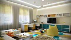 简洁的公寓布置 五彩色调增加梦幻元素简约儿童房装修图片