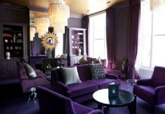 炫丽浪漫紫色调住宅 营造高贵奢华空间