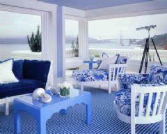 a蓝色淡雅蓝色系家居大胆的色彩运用现代图片装修客厅2016工业设计图片