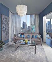 宁静淡雅蓝色系家居 大胆的色彩运用