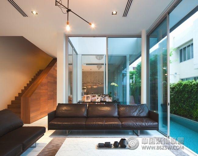 采光好的现代简约复式住宅-现代风格装修效果图-八六图片