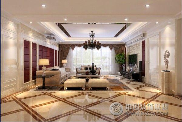 龙湖世纪峰景欧式精装房欧式客厅装修图片