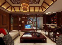 成都尚层装饰欧香小镇517㎡别墅装修中式风格中式风格别墅
