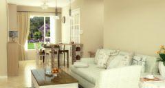 85平米田园风格两居室 米黄暖色调空间
