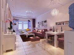90平两室两厅装修 柔和清雅淡紫色家居