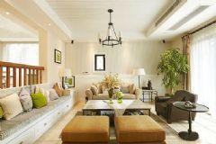 现代舒适田园风格住宅 自然清新复式家