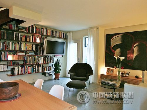 清新柔和黄绿色家居 时尚舒适小户型-书房装修图片
