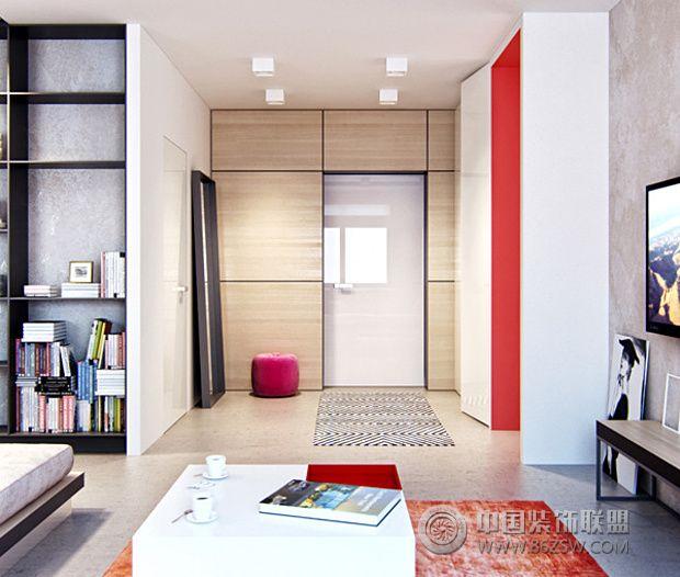 单身女孩的时尚公寓 精致优雅摩登范儿-客厅装修图片