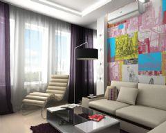 紫色香氛 56平米简约风夫妻小套房