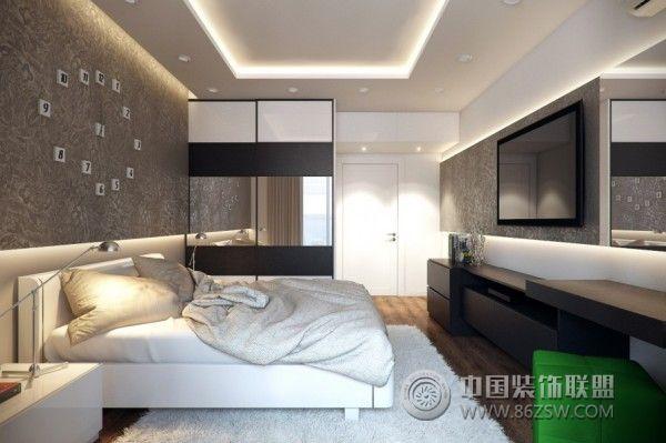 98平米简约风格三居室 明亮清爽之家 书房装修效果图