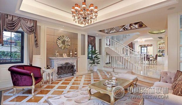 新古典风格别墅装修 华丽唯美的住宅-客厅装修效果图
