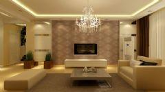 160平简约风格装修 华丽温暖的居家空间