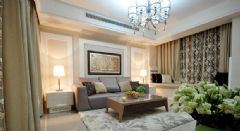 125平时尚优雅三居室 现代新古典风格