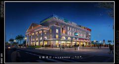 商场夜景效果图设计图案例与您分享