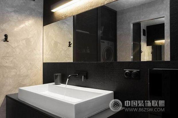 简约时尚黑白灰公寓 搭配永恒的经典简约卫生间装修