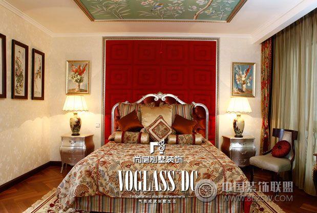 成都尚层装饰别墅装修欧式中式风格案例-卧室装修效果