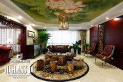 成都尚层装饰别墅装修欧式中式风格案例混搭风格别墅