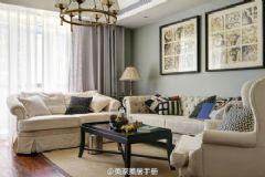 120平米法国风格现代风格三居室