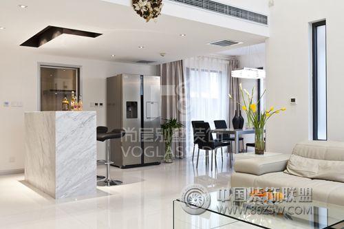 成都尚层装饰别墅装修北欧风格案例欧式客厅装修图片