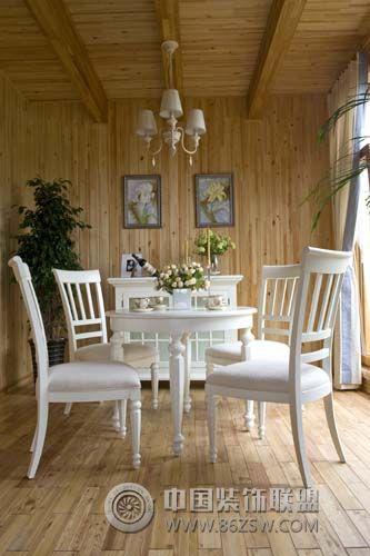 成都尚层装饰别墅装修休闲美式风格美式餐厅装修图片