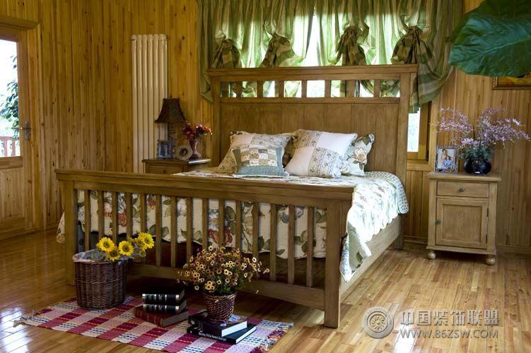 成都尚层装饰别墅装修休闲美式风格-卧室装修效果图