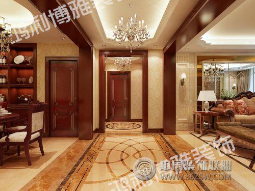 高档别墅-客厅装修效果图-八六(中国)装饰联盟装修