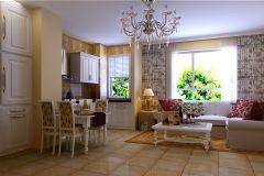 客厅混搭风格现代风格三居室