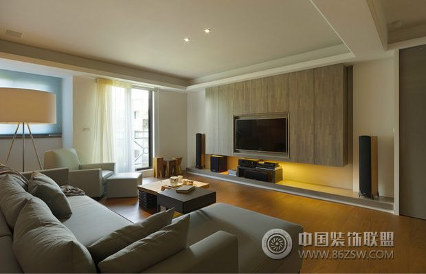 日式错层住宅三室一厅一卫日式装修案例效果图 110平米设计