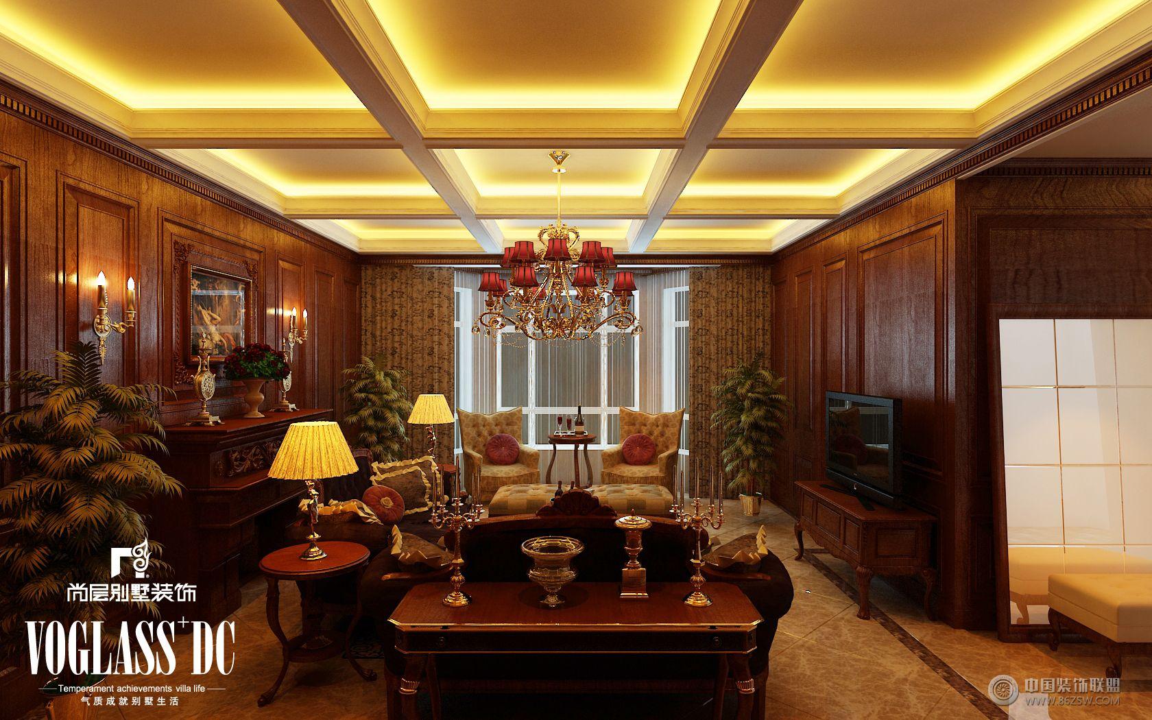 成都尚层别墅装修欧式古典实景案例-客厅装修图片