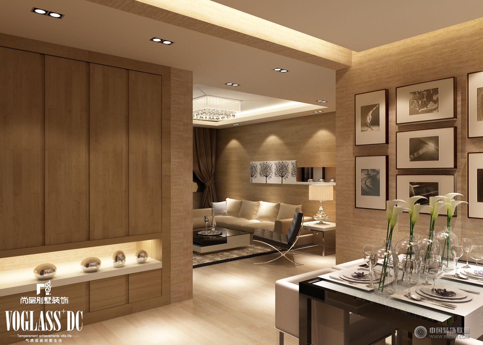 成都尚层装饰别墅装修现代简约风格效果图