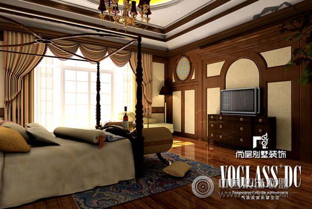 成都尚层装饰别墅装修巴洛克风格-卧室装修效果图-八