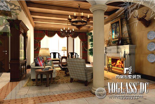成都尚层装饰别墅装修巴洛克风格-客厅装修图片