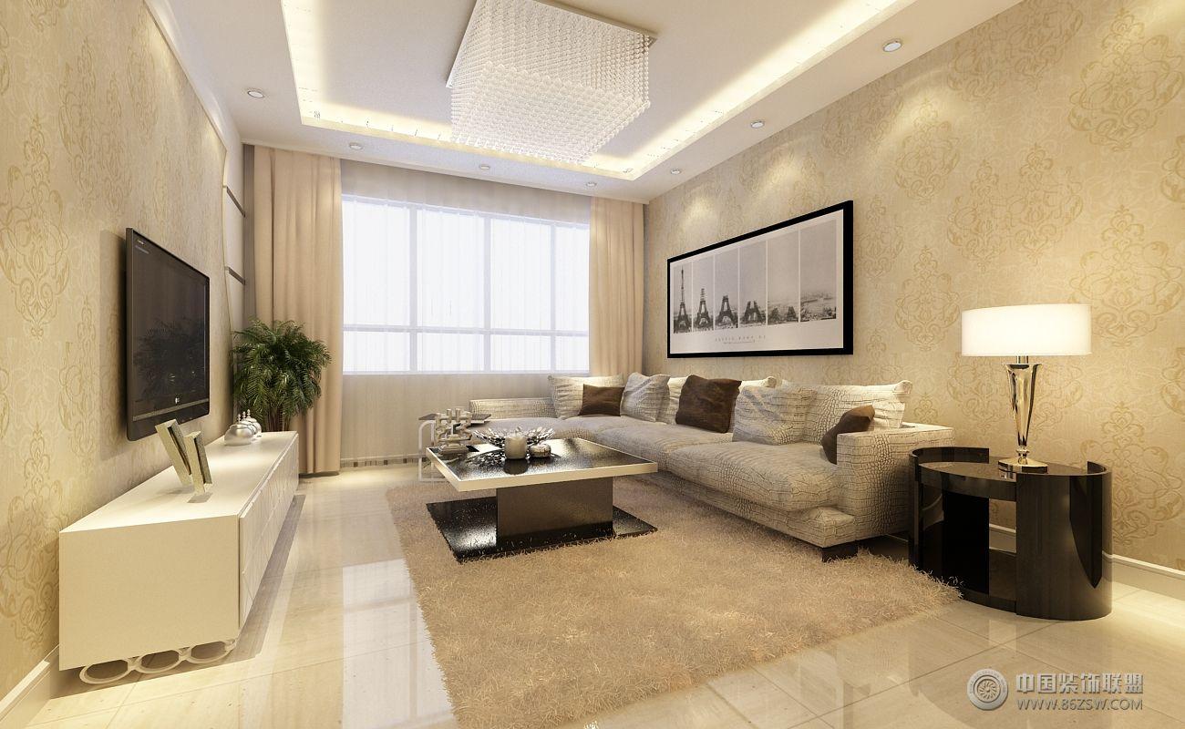 中海城塞尚-客厅装修效果图-八六装饰网装修效果图库