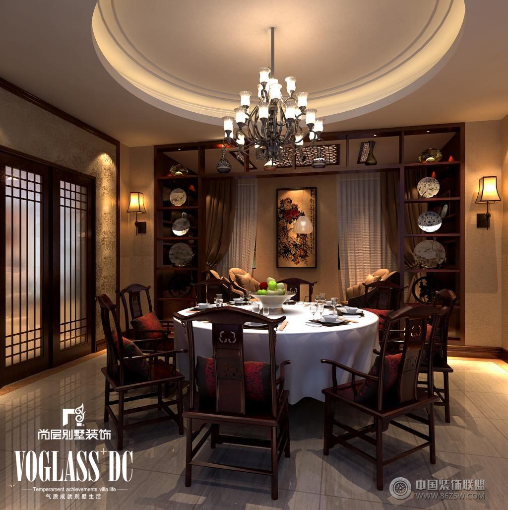别墅中式餐厅装修图片