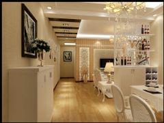 百步亭现代城现代风格二居室